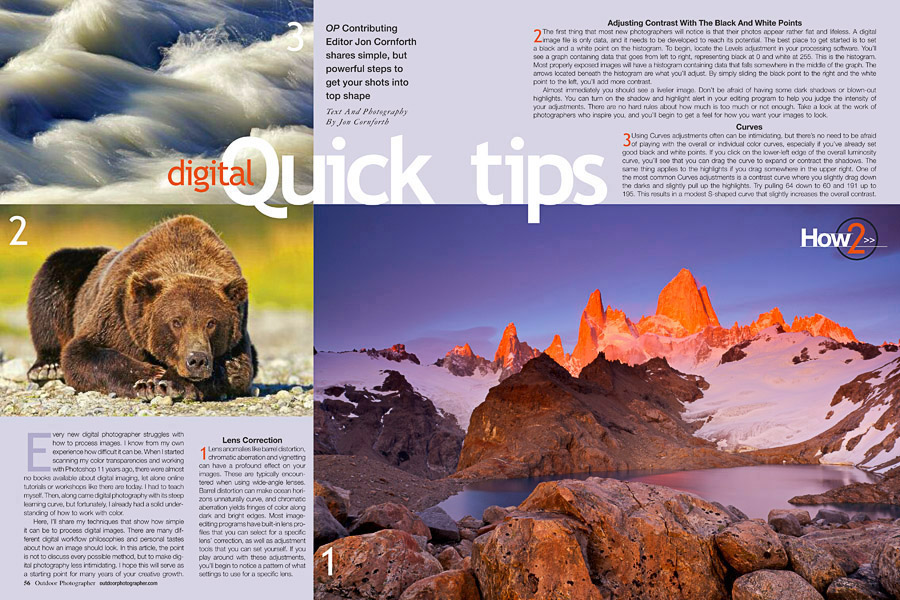 Outdoor Photographer April 2012 Discover Digital Quick Tips Article