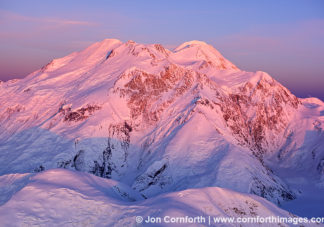 Mt McKinley Sunset Aerial 3
