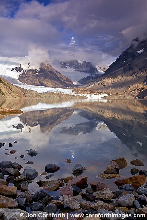 Laguna Torre Cloudy Reflection 1