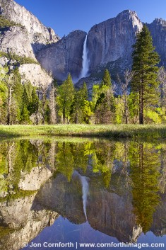 Yosemite Falls Reflection 1