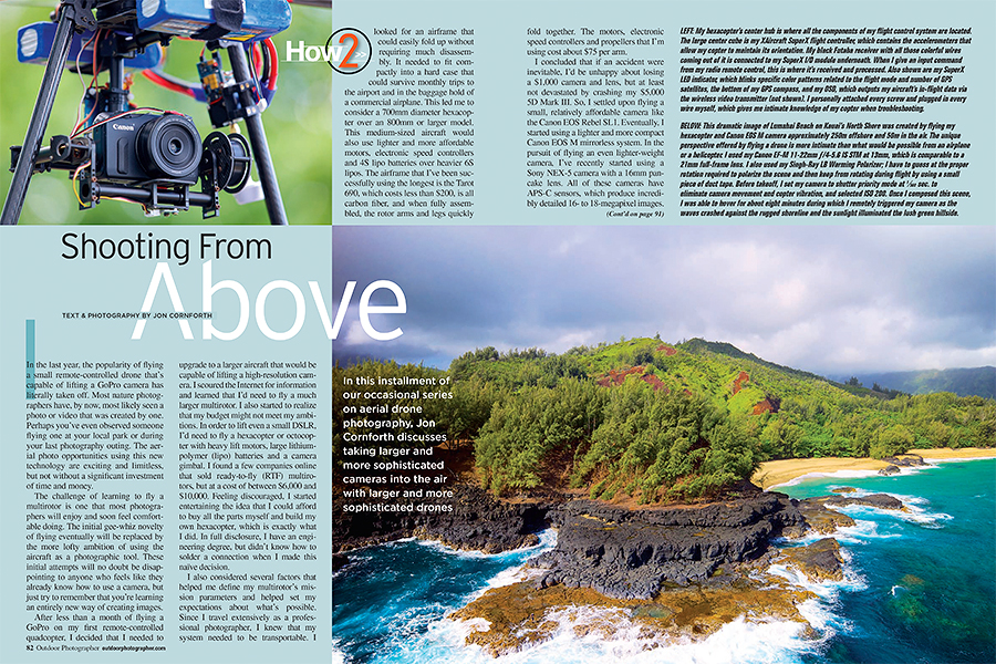 Outdoor Photographer September 2014 Drone Article