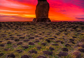 Hanga Kioe Moai Sunset 4